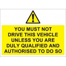 You must not drive this vehicle